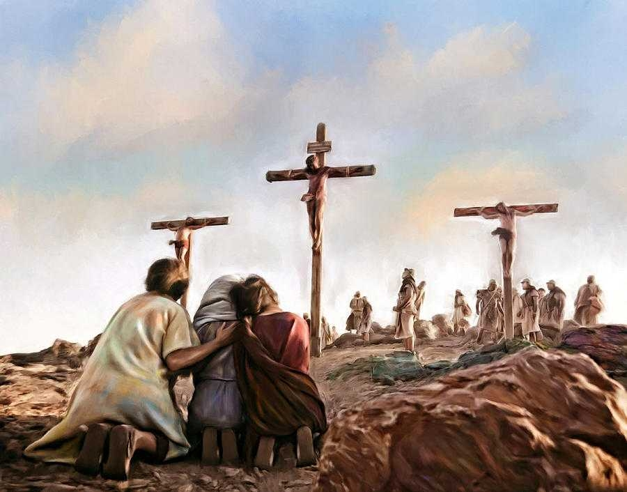 crucifixion religion jesus christ art painting painting by andres on Crucifixion Pictures Of Jesus - Broxtern Wallpaper and Pictures Collection