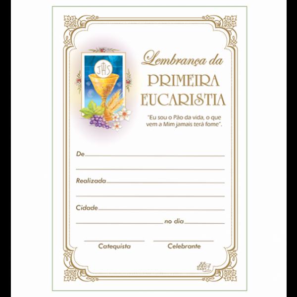 LG-28 Lembrança Primeira Eucaristia Com Texto